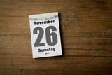 26 November poster