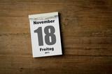 18 November poster