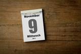 9 November poster