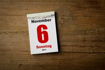 6 November