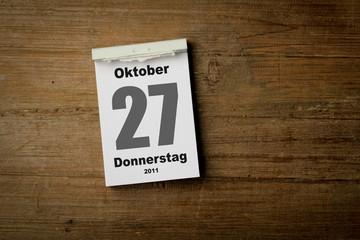 27 Oktober