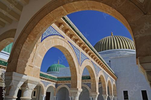 In de dag Tunesië Architecture arabe - Monastir Tunisie