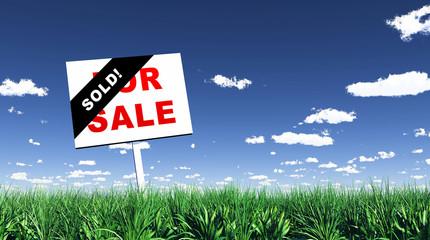 Schild im Gras - Sold