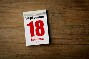 18 September