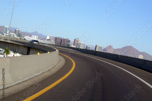 Arizona highways near Phoenix downtown
