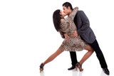 couple in love dancing and kissing