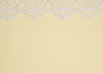 Yellow background with  lace
