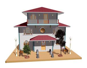 Municipio Palazzo-Town Hall-3D-2