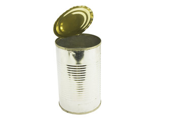 tin can with clipping path