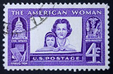 Postage stamp  USA circa 1960