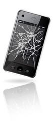 broken window - smartphone