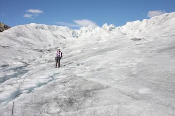 Sur les glaciers norvégiens