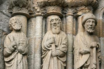 Detalle Arquitectura gótica Iglesia San Martiño, Noia, Galicia