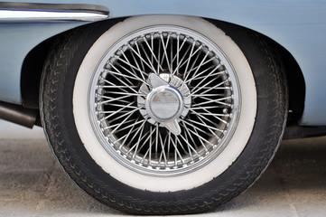Sports Car Wheel from a E-Type Jaguar