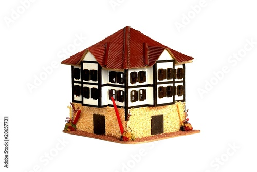 Small Model House Isolated on White