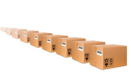 Fila di scatole
