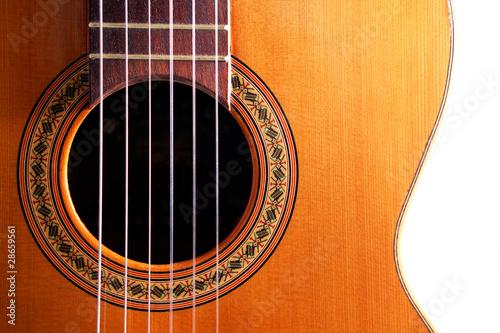 plano frontal de guitarra española