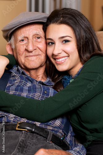 Grandfather and Granddaughter Lifestyle