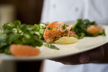 Lobster claw salad with watercress