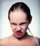 aggressive woman poster