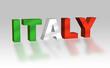 Italy 3D con colori bandiera