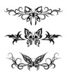 Set tribal with butterflies, tattoo