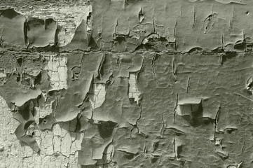 Old scraped paint