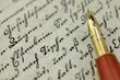 Fountain Pen on Old Diary
