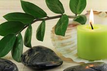 Kerze mit Muschel