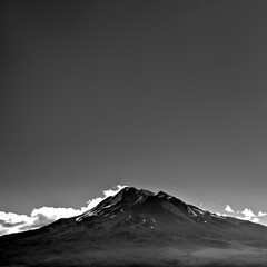 Mountain with Empty Sky Copyspace