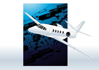 Plane. Vector illustration.