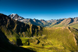 Summer alpine view, trek around Grand Combin