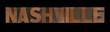 the word Nashville in old letterpress wood type