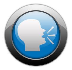 "Metallic Orb Button ""Talking Head / Forum / Discussion"""