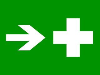 señal direccion enfermeria derecha