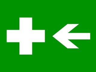 señal direccion enfermeria izquierda