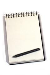 Blocco notes con matita
