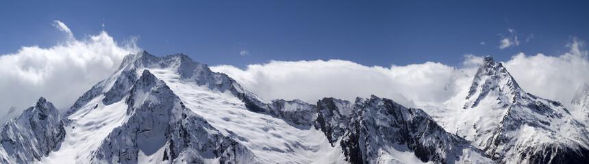 Mountain panorama. Caucasus, region Dombay.