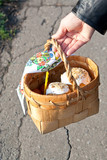 Easter basket with bread