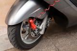 Fototapety Red lock on motorbike