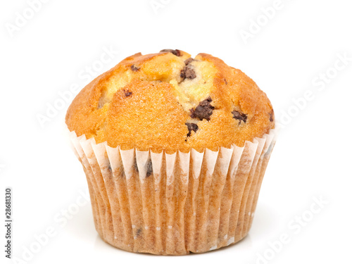 Fresh chocolate muffin close-up - 28681330