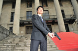 Asian Chinese Bodyguard with a Gun poster
