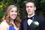 Closeup Prom Couple Casual Horizontal
