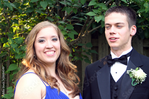 Casual Prom Couple Closeup