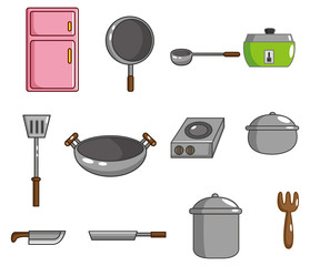 cartoon kitchen tool icon