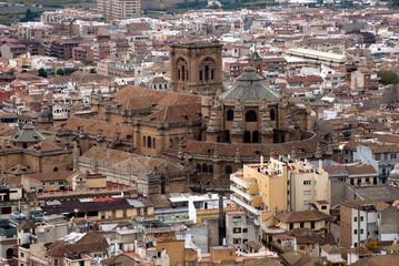 Panoramica de la ciudad de Granada (España)