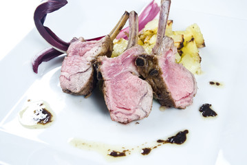 Rack of lamb, lamb chops, carrè di agnello