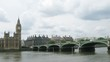 Big Ben, the bridge and the river Thames in London