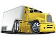Vector cartoon cargo semi-truck