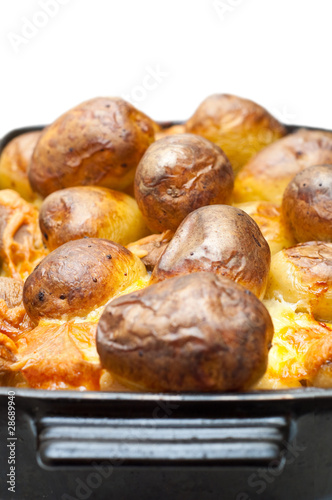 baked potatoes and cheese